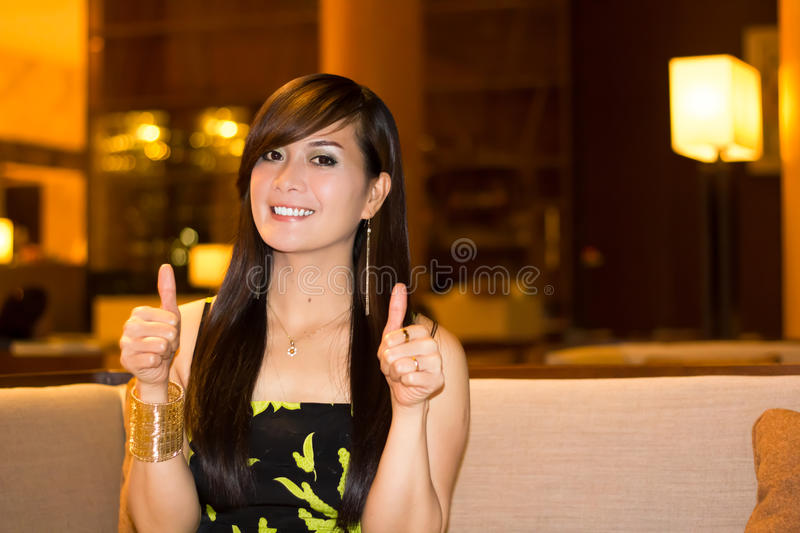 Download Woman with thumbs up stock image. Image of cheerful, cheer - 30801595