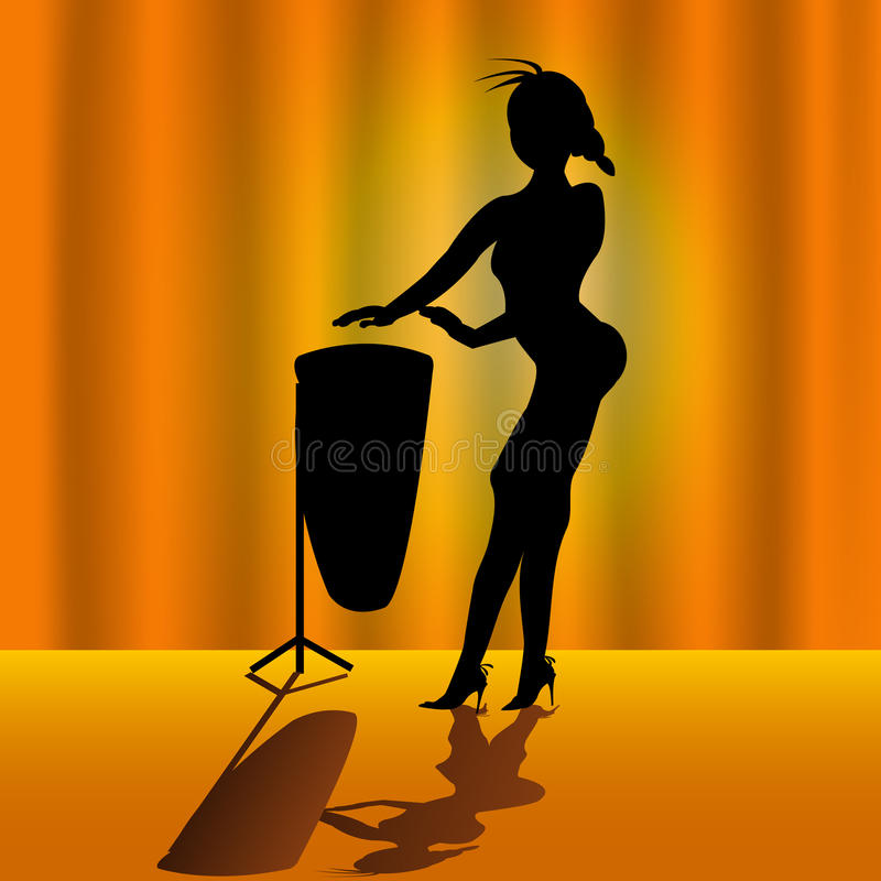 Download Woman With Timpani Royalty Free Stock Photography - Image: 9735317