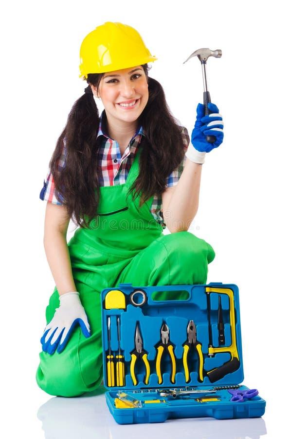 Download Woman with toolkit stock photo. Image of plumbing, plumber - 27316344