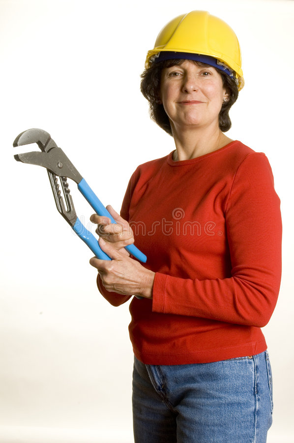 Download Woman with tools stock photo. Image of woman, middle, general - 1408930