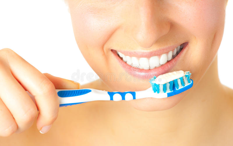Download Woman with toothbrush stock image. Image of shiny, dentistic - 14435445
