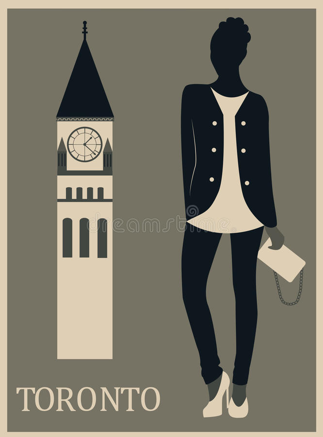 Woman in Toronto. royalty free illustration