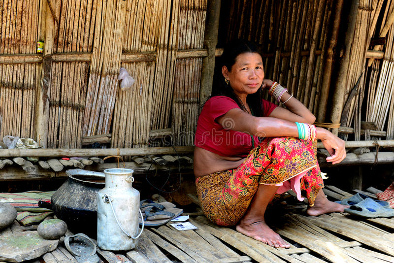 Woman of Toto Tribes stock images