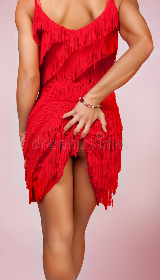 Download Woman touching her stock image. Image of evening, dress - 13306713