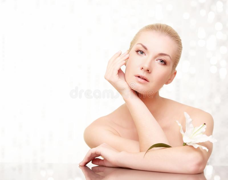 Download Woman touching her face stock image. Image of lifestyle - 26338873