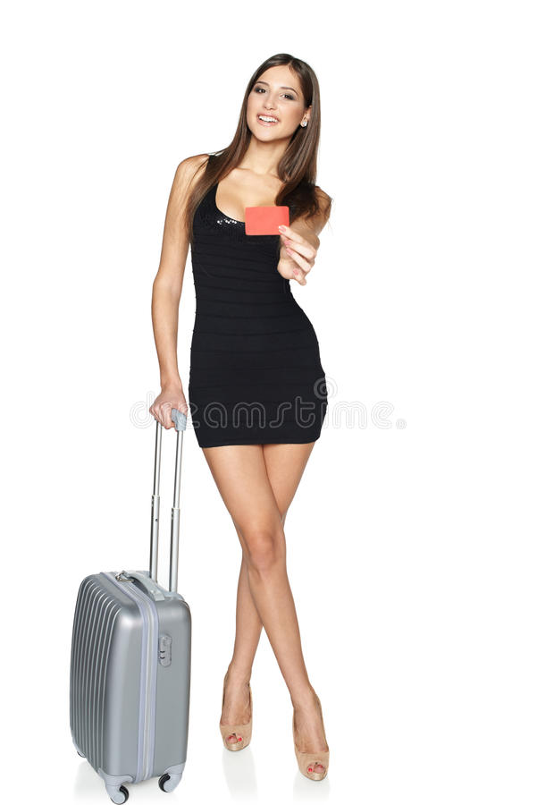 Woman tourist royalty free stock image