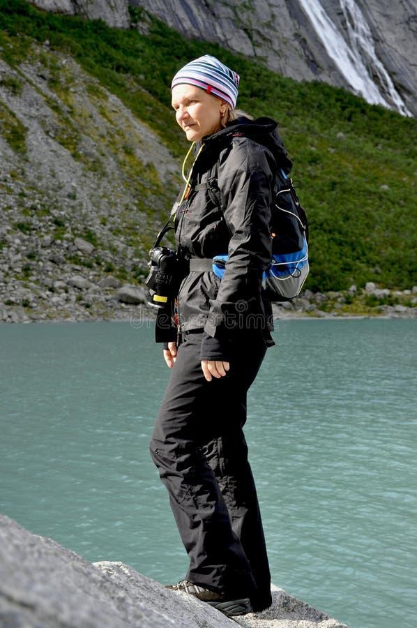 Woman tourist royalty free stock photo