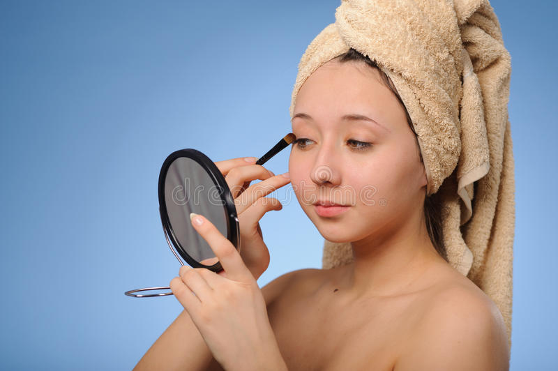 Download Woman with a towel stock image. Image of cosmetic, bliss - 23938527