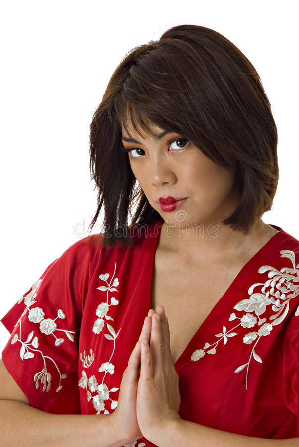 Download Woman In Traditional Kimono Stock Photo - Image of woman, expressive: 3017684