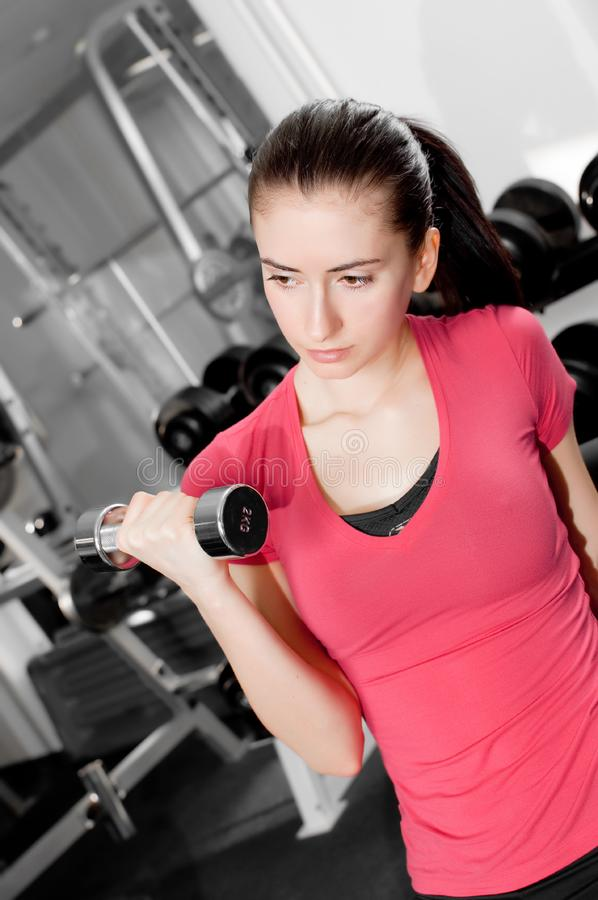Woman training stock images