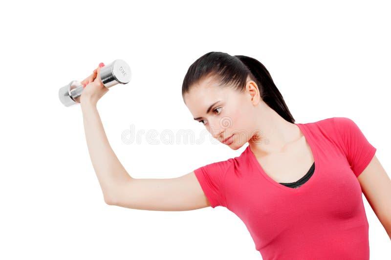 Woman training stock photography