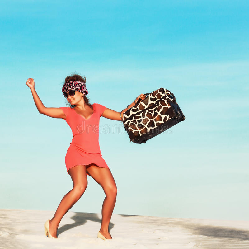 Download Woman With Travel Bag Stock Photography - Image: 23075432