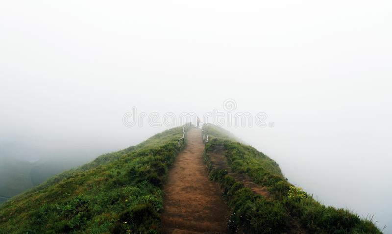 Woman traveler in Azores royalty free stock photos