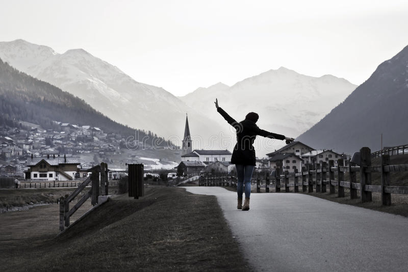 Woman travelling royalty free stock images