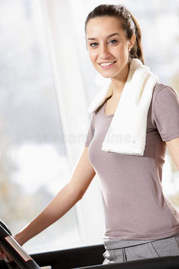 Download Woman on treadmills stock photo. Image of color, lifestyle - 23602360