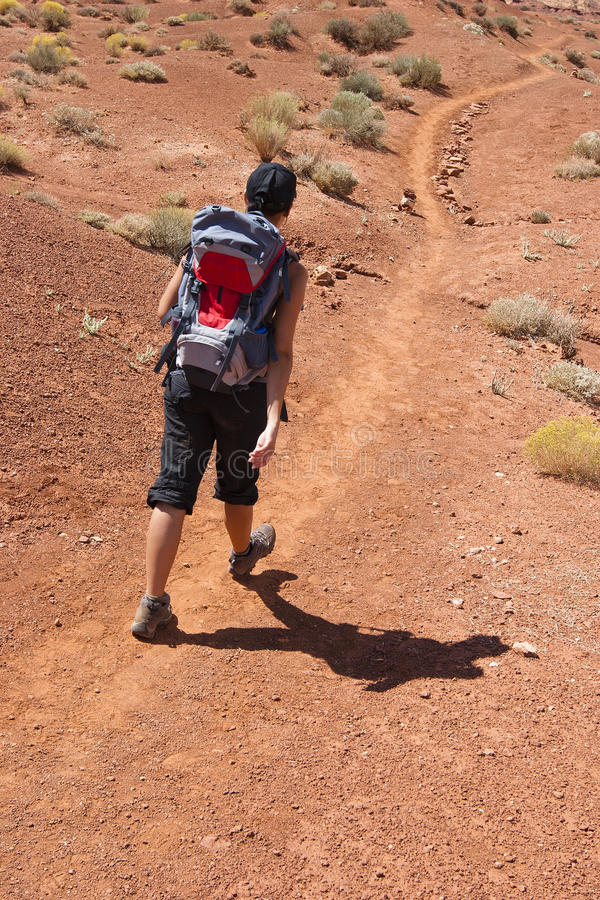 Download Woman trekking in USA stock image. Image of nature, trail - 17085559
