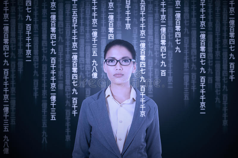 Woman try to translate japanese language. Young asian woman translating japanese language to get information stock photos
