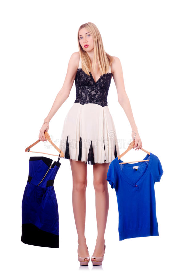 Download Woman trying new clothing stock photo. Image of fashion - 29057796