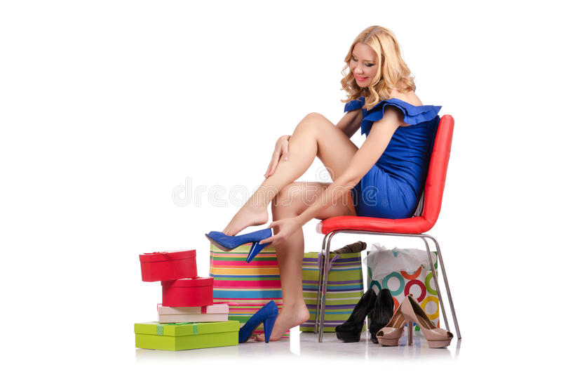 Download Woman Trying New Clothing Royalty Free Stock Photography - Image: 34469087