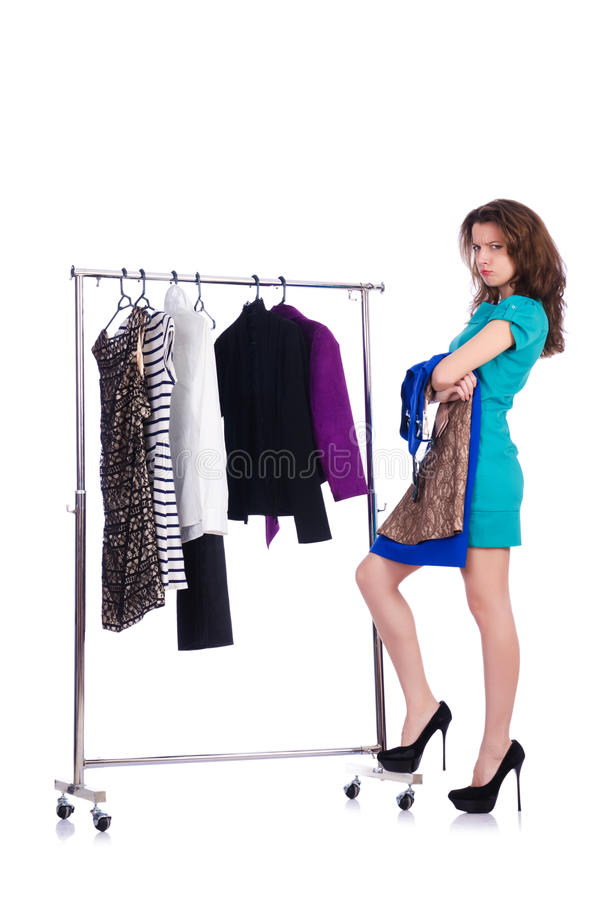 Download Woman Trying New Clothing Stock Photo - Image: 30220080