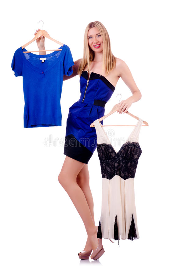 Download Woman trying new clothing stock image. Image of looking - 30591221