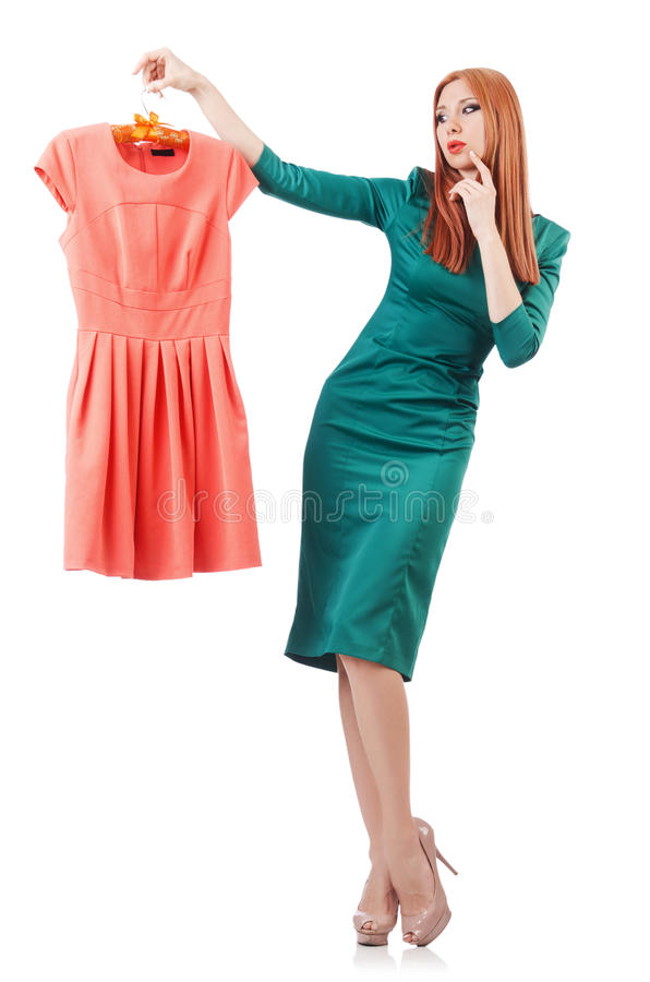 Download Woman trying new clothing stock photo. Image of beautiful - 32923530