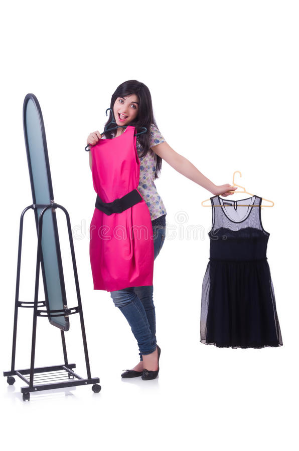 Download Woman trying new clothing stock image. Image of lifestyle - 33136325