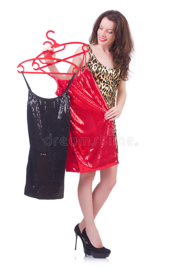 Download Woman trying new clothing stock image. Image of casual - 33224597