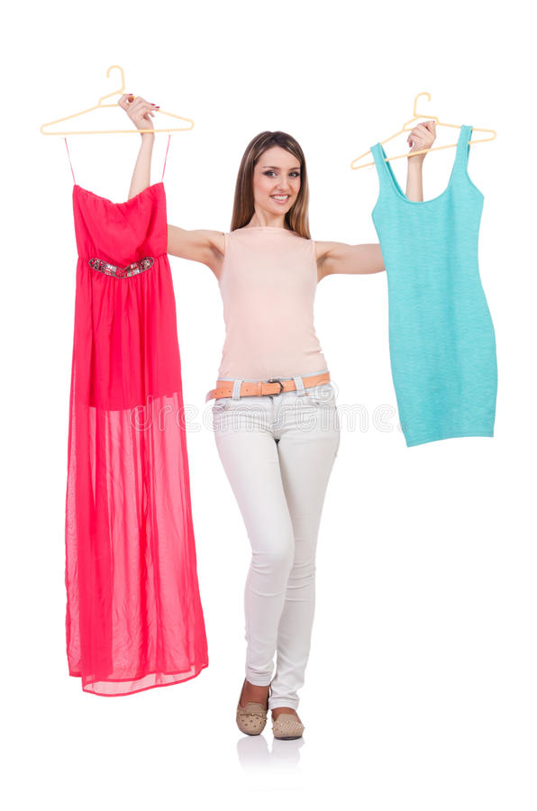 Download Woman trying new clothing stock image. Image of buying - 33224753
