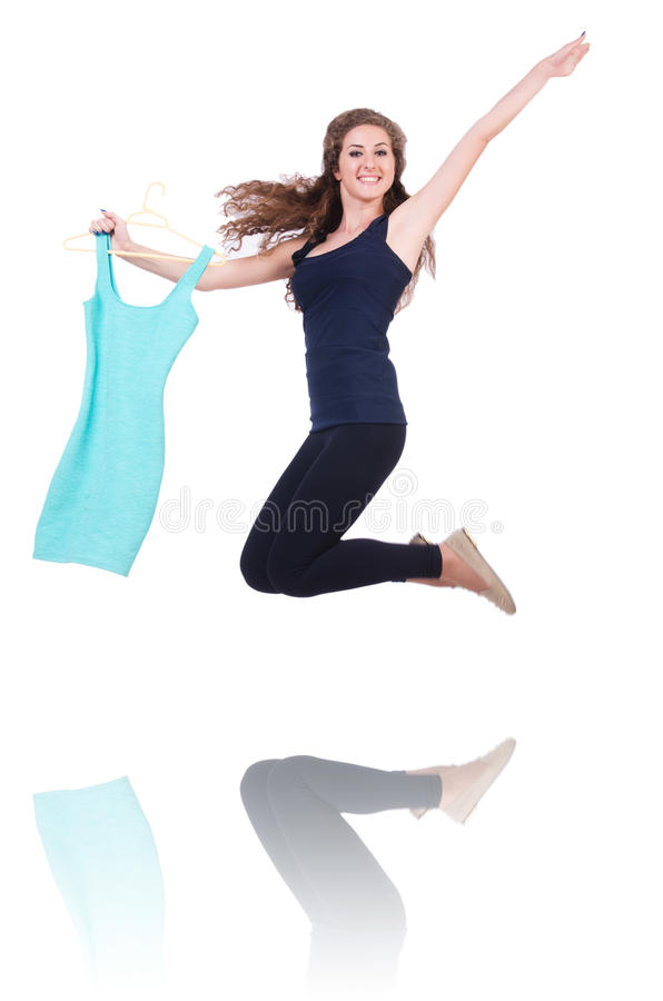 Download Woman trying new clothing stock photo. Image of girl - 33494162