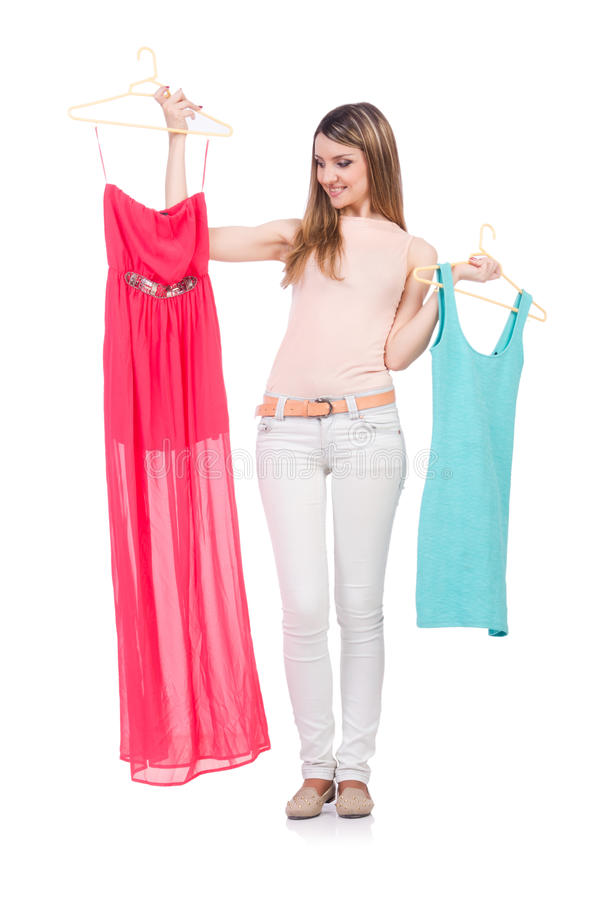 Download Woman trying new clothing stock image. Image of buying - 33494175