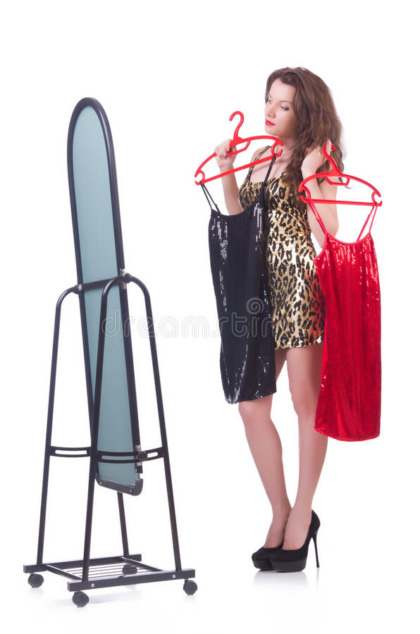 Download Woman Trying New Clothing Royalty Free Stock Photo - Image: 33680205