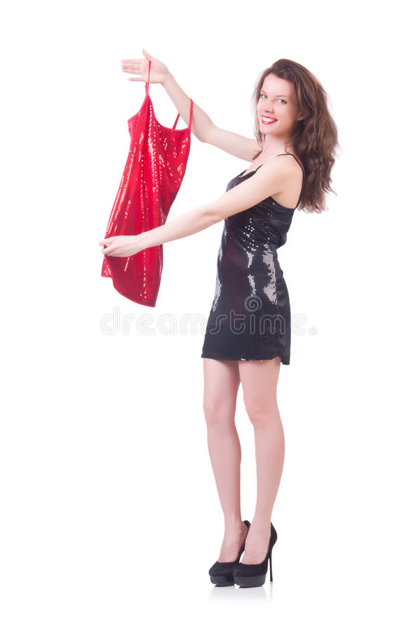 Download Woman Trying New Clothing Stock Images - Image: 33763824
