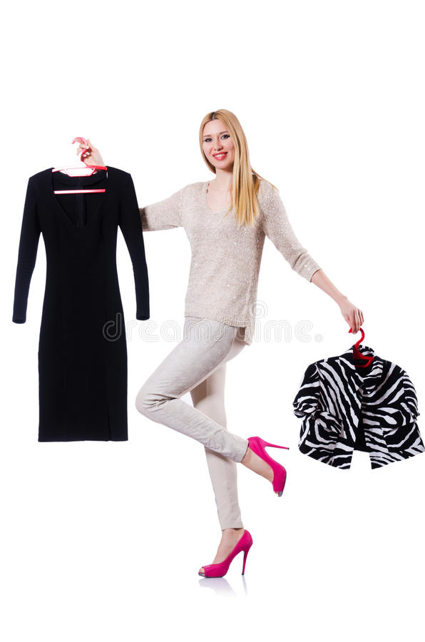 Download Woman Trying To Choose Dress Stock Photo - Image: 30346320