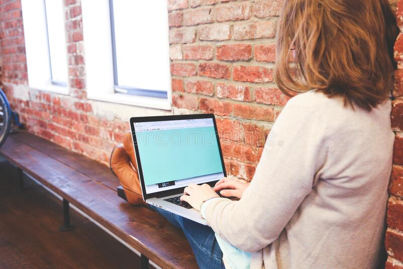 Woman Typing On Laptop Free Public Domain Cc0 Image