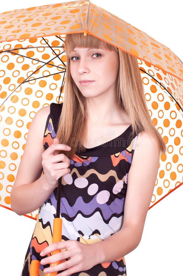 Download Woman with umbrella stock image. Image of alone, body - 18998161
