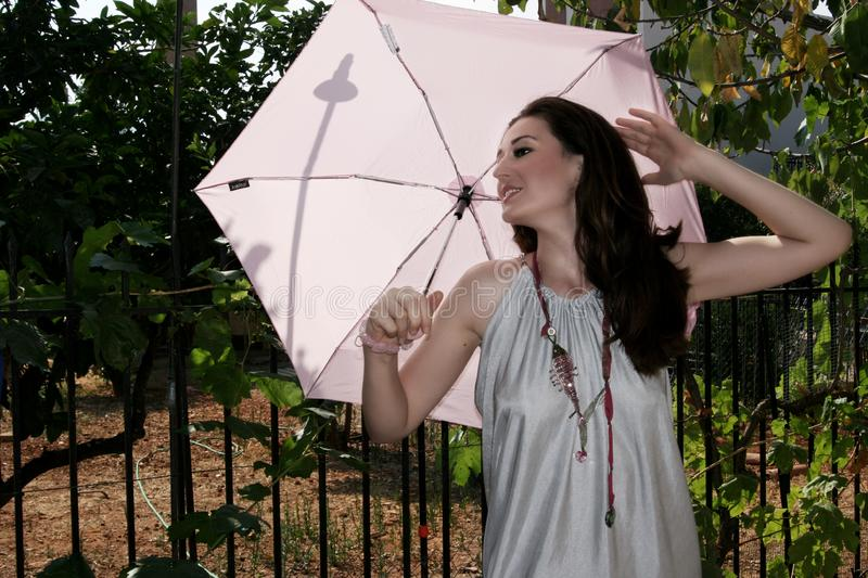 Download Woman with umbrella stock image. Image of jewels, person - 6451895