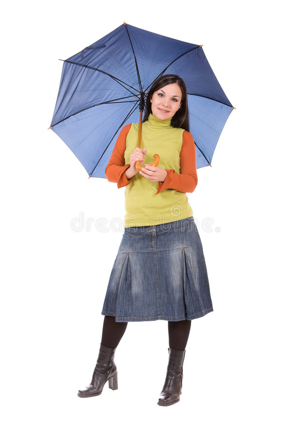 Download Woman with umbrella stock image. Image of guard, pretty - 7204247