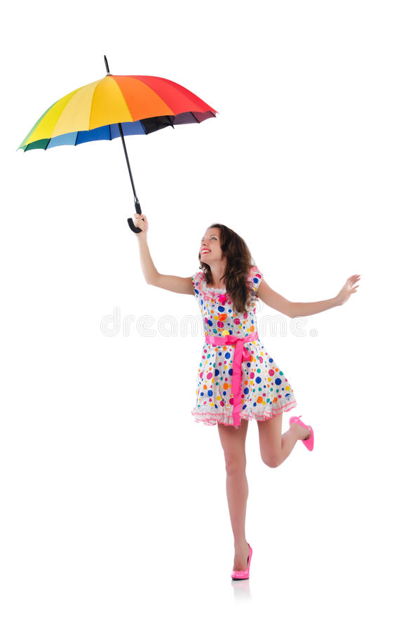 Download Woman With Umbrella Royalty Free Stock Photo - Image: 33965125