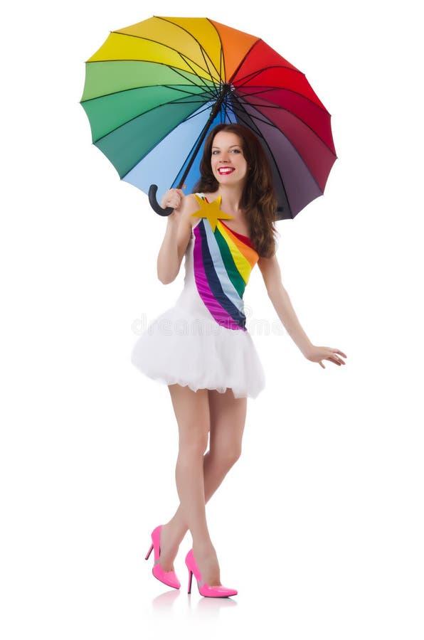 Woman With Umbrella Royalty Free Stock Photos