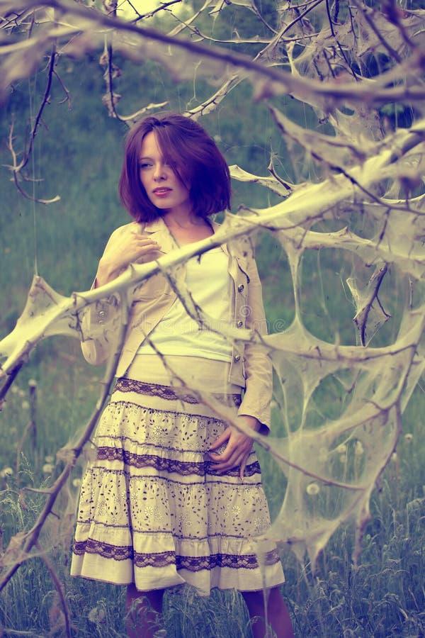 Free Woman Under Strange Tree Royalty Free Stock Photos - 25316418