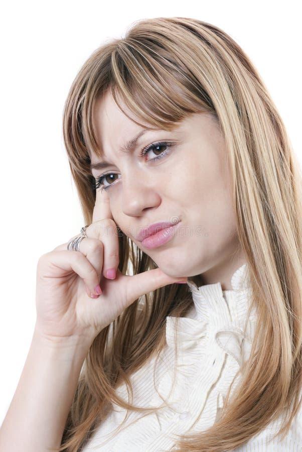 Woman under stress stock image