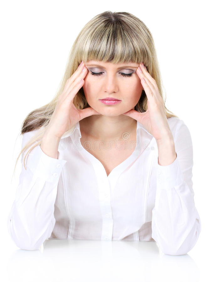Download Woman under stress stock image. Image of pressure, human - 25828911