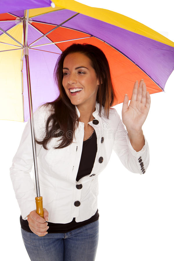 Woman under umbrella. royalty free stock photo