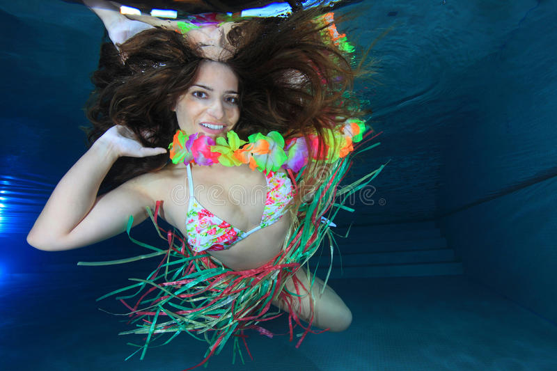 Download Woman underwater stock photo. Image of fashion, blue - 25633842