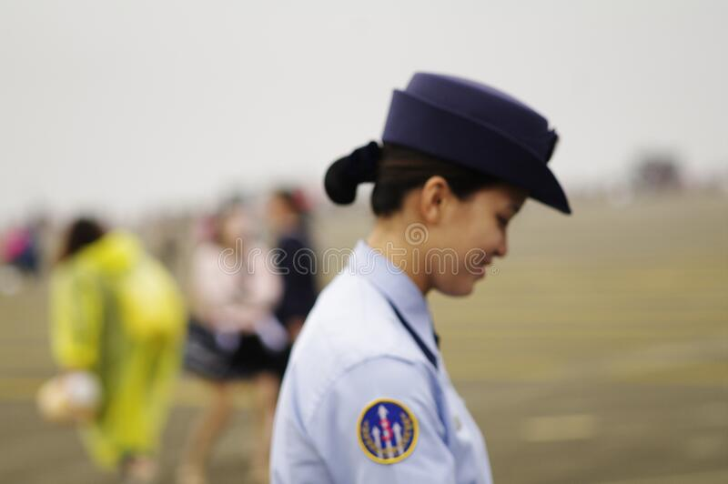 Woman In Uniform Outdoors Free Public Domain Cc0 Image