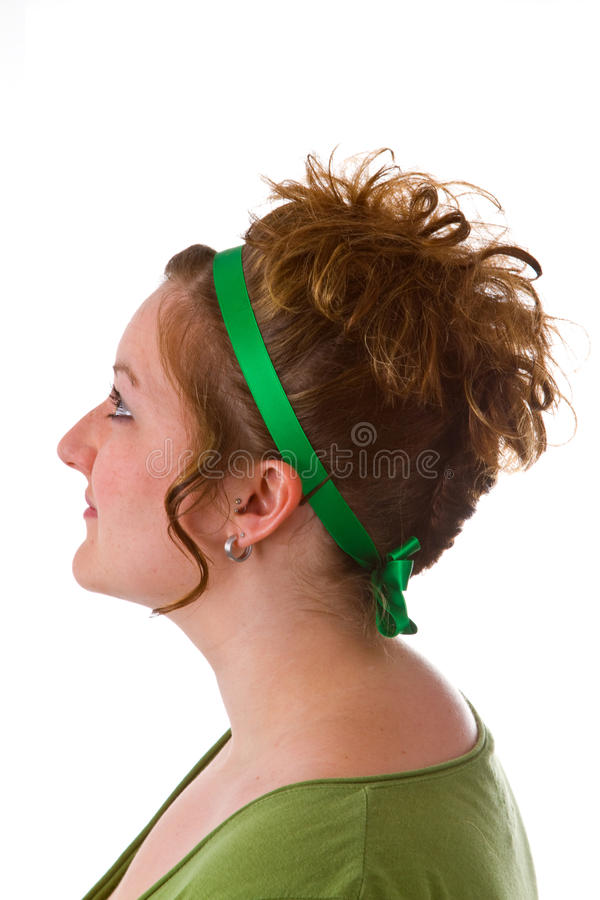 Download Woman with an updo hair stock image. Image of neutral - 20959309