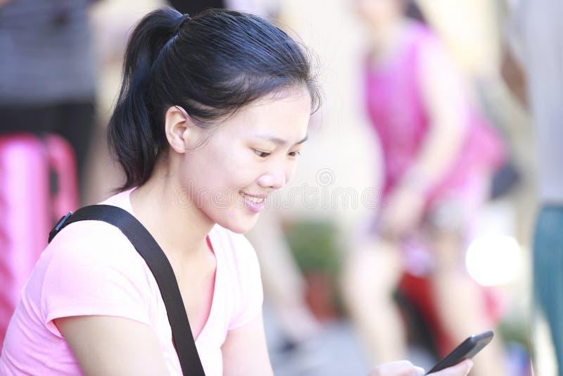 Woman Use Smartphone Stock Photos