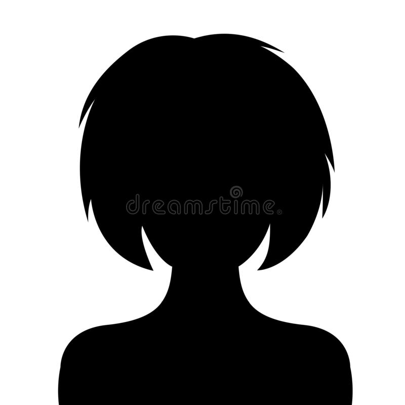 Woman, user avatar icon, sign, profile symbol, flat person icon - vector. Woman, user avatar icon, sign, profile symbol, flat person icon – stock vector royalty free illustration