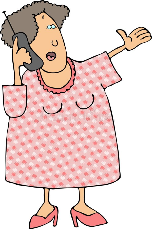 Download Woman using a cellphone stock illustration. Illustration of cellphone - 1118166